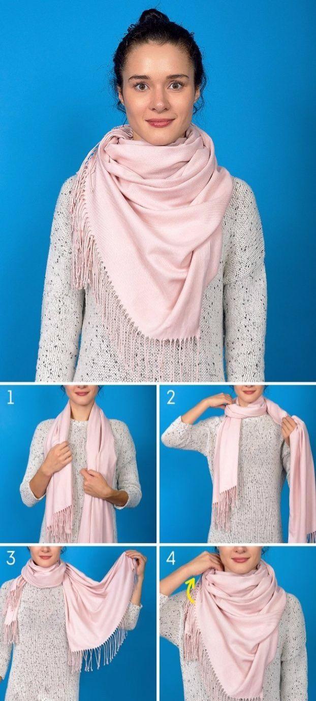 8 innovative Möglichkeiten, den Schal für den kalten Winter zu tragen