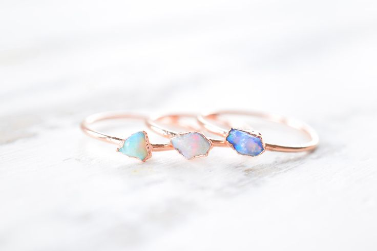 Raw opal ring - Opal ring - Fire opal ring - Rough opal ring - Australian opal ring - Copper opal ring - Elecrtoformed ring - Engagement by FEATHEROAK on Etsy https://www.etsy.com/au/listing/288827503/raw-opal-ring-opal-ring-fire-opal-ring
