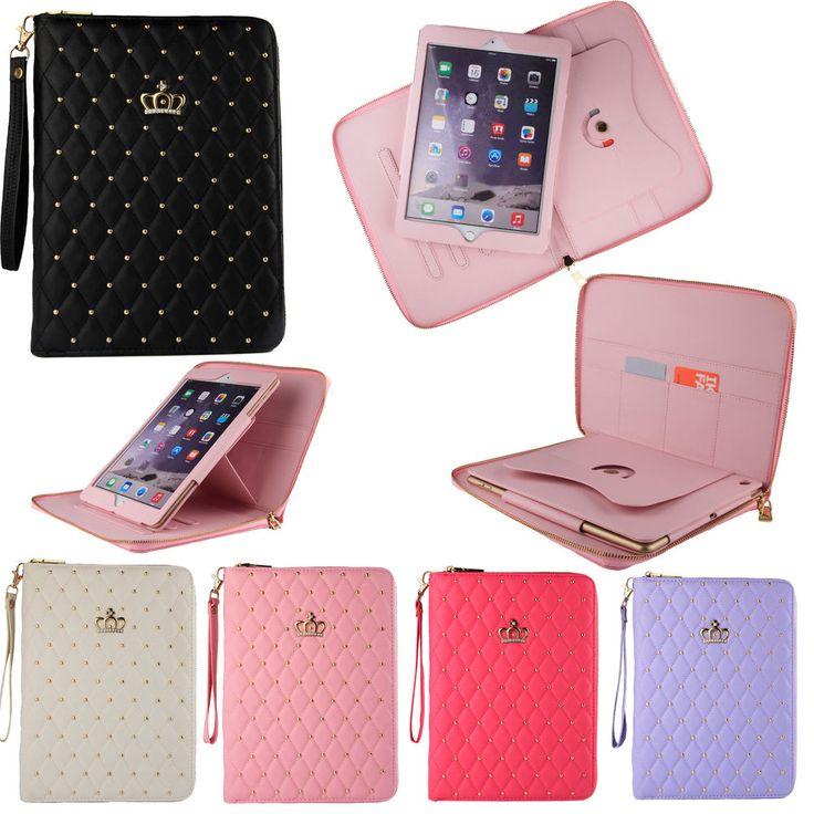 Luxury Leather Crown Zipper Bag Case Cover for Apple iPad Air 2 iPad 3 4 Mini 3 #UnbrandedGeneric
