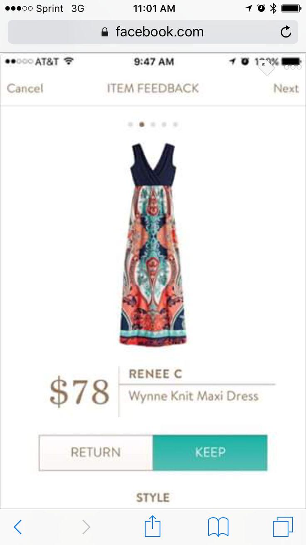 Renee C Wynne maxi dress. Beautiful print! https://www.stitchfix.com/referral/7541830