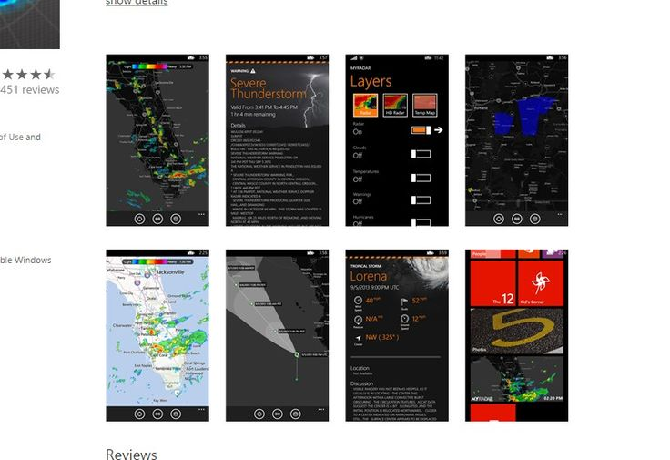 10 Best USA Windows Phone Weather Apps 2014