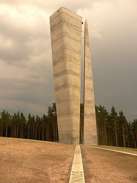 View tower in Nebra, Saxony-Anhalt state, Germany. At a site dedicated to