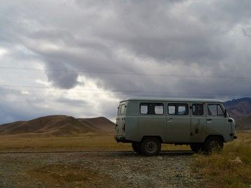 Rent a #UAZ Buhanka in #Kyrgyzstan