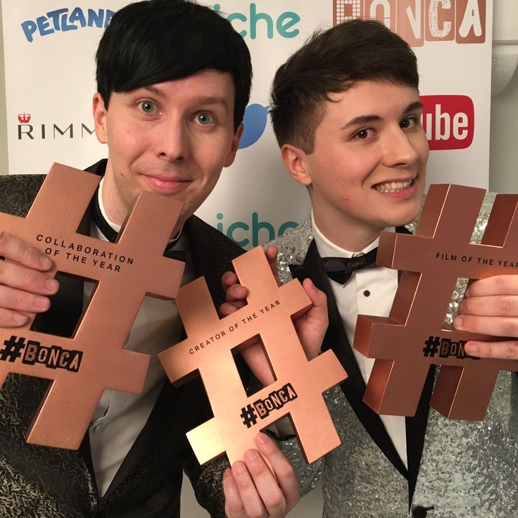 Congratulations to danisnotonfire and AmazingPhil on their incredible BONCAS success!