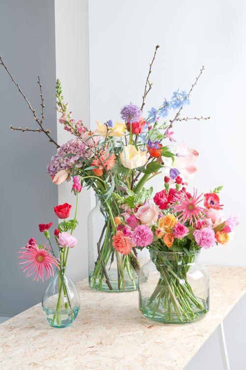 Bloemen en vaas inspiratie - Bloemen van Loes