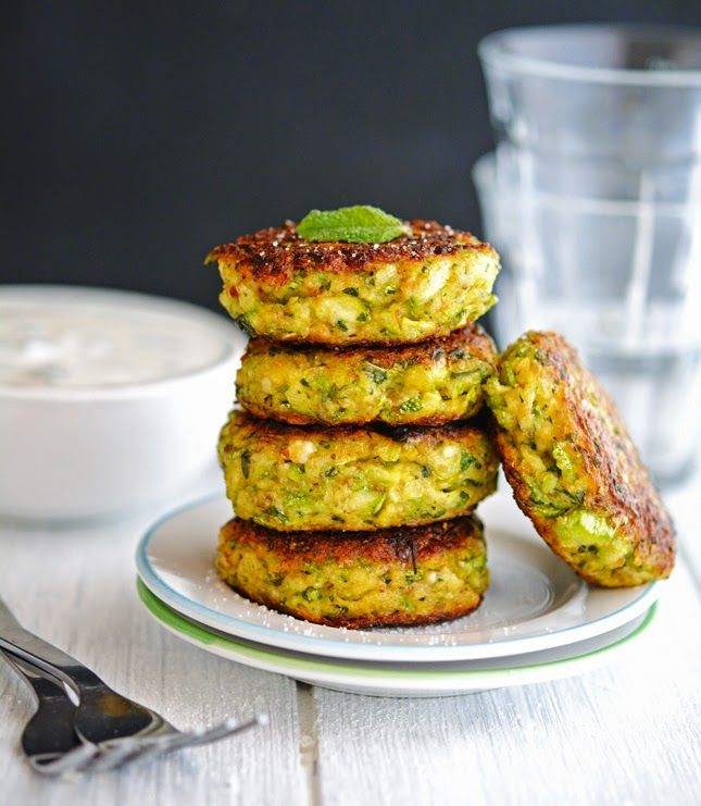 Zucchini Recipes - Creamy Greek Zucchini Patties