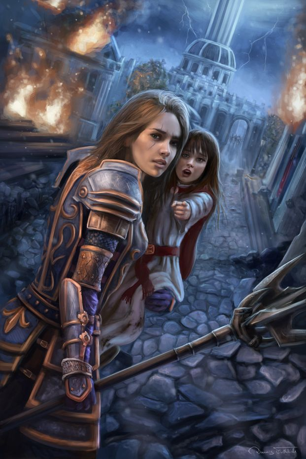 Reminds me of Matilda and her youngest sister, Shaccari.(Escape the Imperial City by Jorsch.deviantart.com on @DeviantArt)