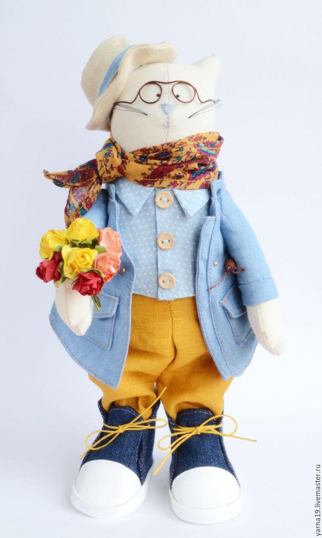 Tilda Cat   Купить Кукла Кот Василий Романтик Кукла тильда . - комбинированный, кукла Тильда, кукла из ткани