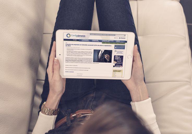Diseño Sitio Web - Confecámaras desarrollado en html5, css3, mediaqueries y Jquery