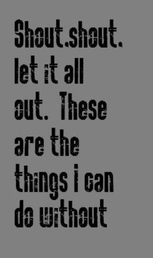 Tears for Fears - Shout - song lyrics, music lyrics, song quotes