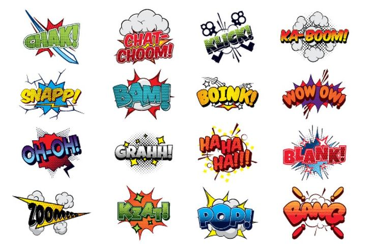Comics sound effects set3 in 2020 Comic sound effects
