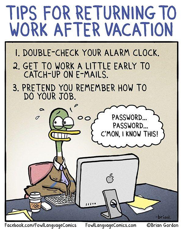 Back To Work - Fowl Language Comics