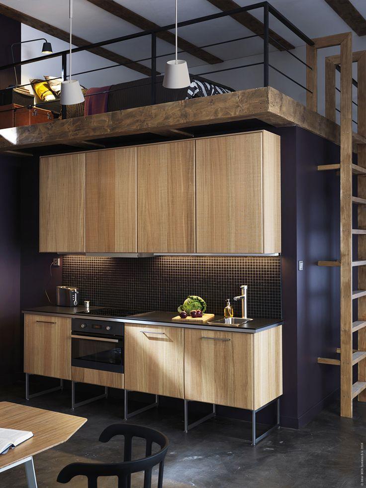 modern line kitchen with hyttan fronts and dark worktops ikea