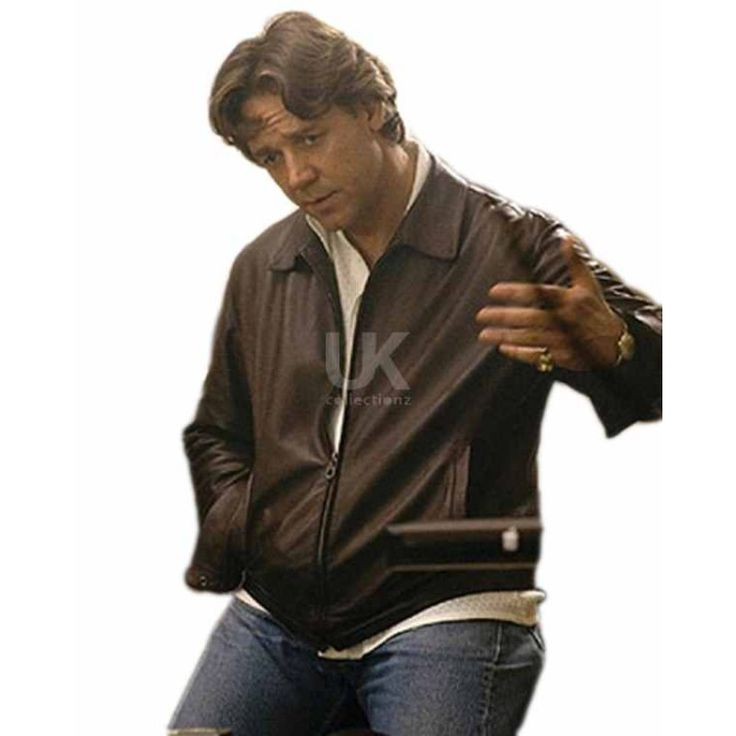 Richie Roberts American Gangster Russell Crowe Leather Jacket