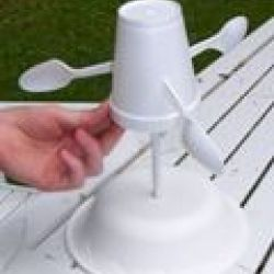 """Measuring the Wind    In this activity, learners explore how anemometers work to record wind speeds and how the equipment has undergone engineering adaptations over time. Learners work in teams of """"engineers"""" to design and build their own anemometer out of everyday items."""