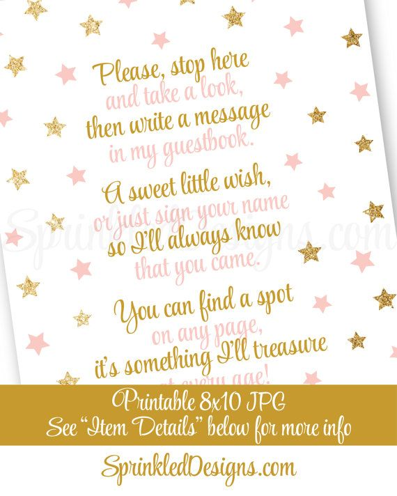 Guest Book Sign Twinkle Little Star Baby by SprinkledDesign                                                                                                                                                     More