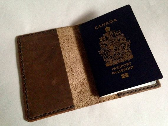 Passport Cover Leather Hand Stitched Oil by HaversackLeather