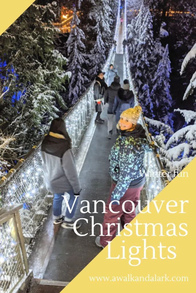 Vancouver Winter Light Displays Capilano Suspension Bridge And Canyon Is Lit Up For Christmas The In 2020 Winter Light Vancouver Winter Winter Travel Destinations