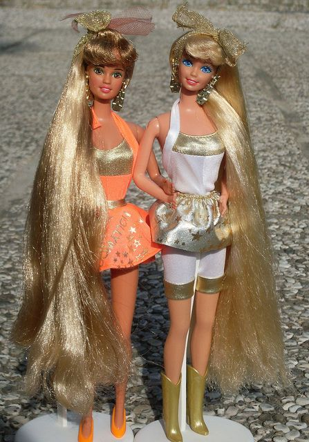 Barbie and Teresa Hollywood hair by illina86, via Flickr