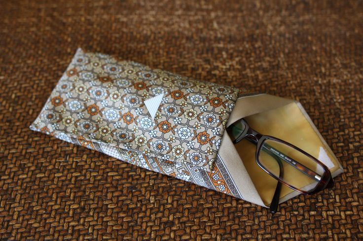 neck tie eyeglass case, could use this to make tie coin purses or other as well.