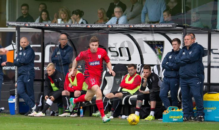Queen's Park's Sean Burns in action during the IRN-BRU Cup game between Dunfermline Athletic and Queen's Park.