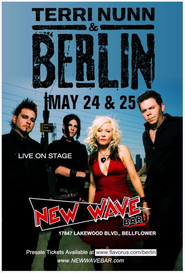Poster oficial - BERLIN - 24 e 25 de Maio de 2013 - New Wave Bar - California