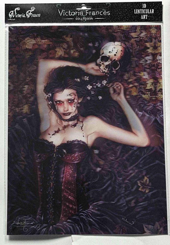 Brand New Licensed 3D Lenticular Victoria Frances IRIA Vampire Gothic Art