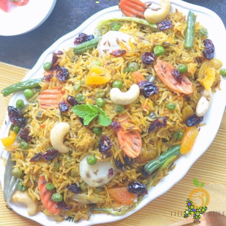instant pot vegetable biryani recipe video thebellyrulesthemind fragrant spicy delicious on hebbar s kitchen chicken biryani id=87964