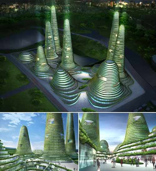 concept design for a dense city centre winner of the developer's competition for the future new town of Gwanggyo, located 35km south of the Korean capital Seoul. The plan consists of a series of overgrown hill shaped buildings with great programmatic diversity, aiming for high urban density and encouragement of further developments around this so-called 'Power Centre', one of the envisioned two centre's of the future new town.