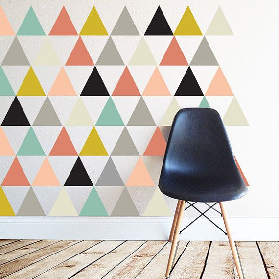 Triangles mod - WALL DECAL