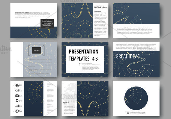 Presentation slides v.4, abstract design brochure by VectorShop on @creativemarket