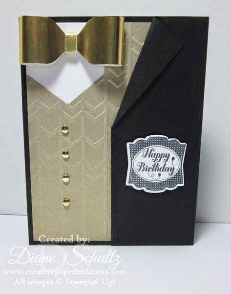 Creative Paper Treasures: Masculine Tie & Vest Card