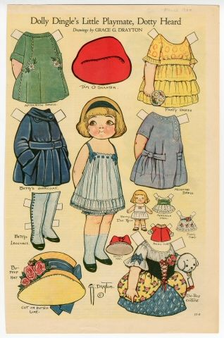 Dolly Dingle's Little Playmate, Dotty Heard, 1920Paperdoll Paste