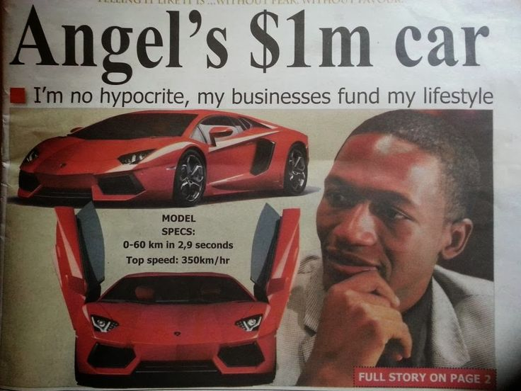 Charismatic Christian Preacher Uebert Angel Mudzanire owns a Lamborghini that cost $1 Million Dollars.  The founder of Spirit Embassy Church ALSO owns a $200,000 Bently Coupe, a Range Rover, Jaguar and several other cars. Curious to see the house attached to the garage needed for his fleet of luxury cars.  Provided by God - or - the basket passed around during his weekly fleecing service.  http://africanmillionaire.net/2014/01/uebert-angel-mudzanire-millionaire/