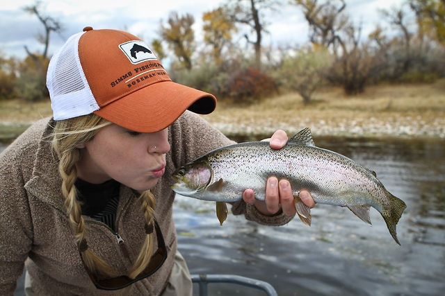 Tracy Moore Fly fishing the Big Horn with Montana Matt by Tracy Moore.