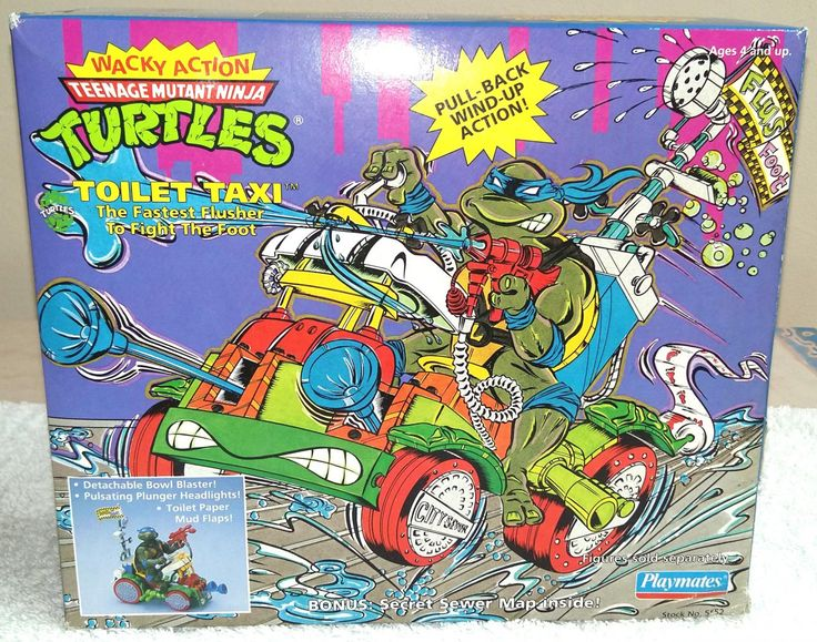 Toilet+Taxi+Teenage+Mutant+Ninja+Turtles+Wacky+Action+TMNT+Playmates+1990
