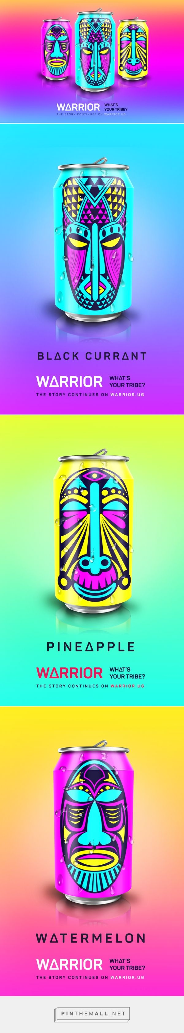 Warrior Energy Drink (Concept) - Packaging of the World - Creative Package Design Gallery - http://www.packagingoftheworld.com/2016/08/warrior-energy-drink-concept.html
