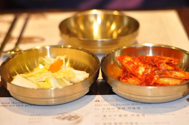 Myung Dong Noodle House Fort Lee Korean Food JenCooksKorean 's review kalguksu kimchee kimchi