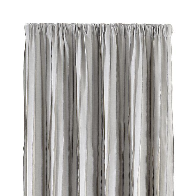 Kendal 50  Grey Striped Curtains