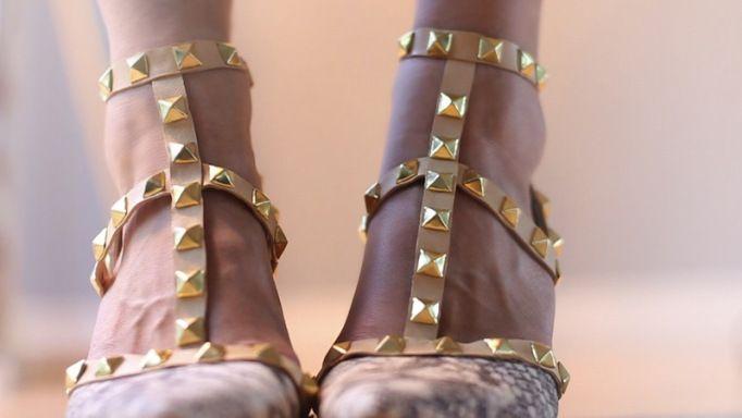 DIY Valentino Rockstud Heels