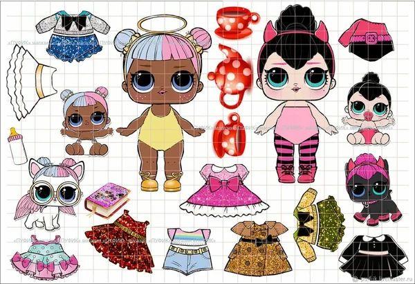 бумажные куклы лол с одеждой для вырезания - Пошук Google ...