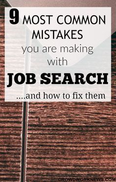 Searching for work at home jobs is quite a challenge. If you want to find the right work at home job without wasting hours of your time, then don't make these mistakes in your job search. Click through to know how to fix them.