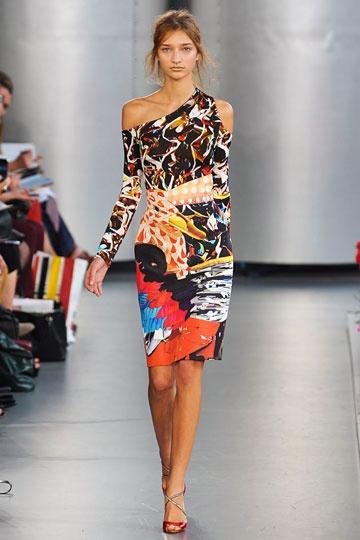 ALLI Cotton and Silk Printed Dress Spring/summer Mary Katrantzou kW5aB1Zz