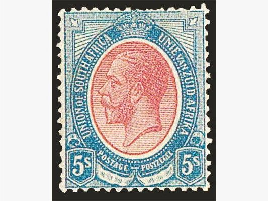 SA's most expensive stamp up for auction | The Citizen A 1913 Union King's Head 5/inverted watermark valued at R800 000-R1 200 000.