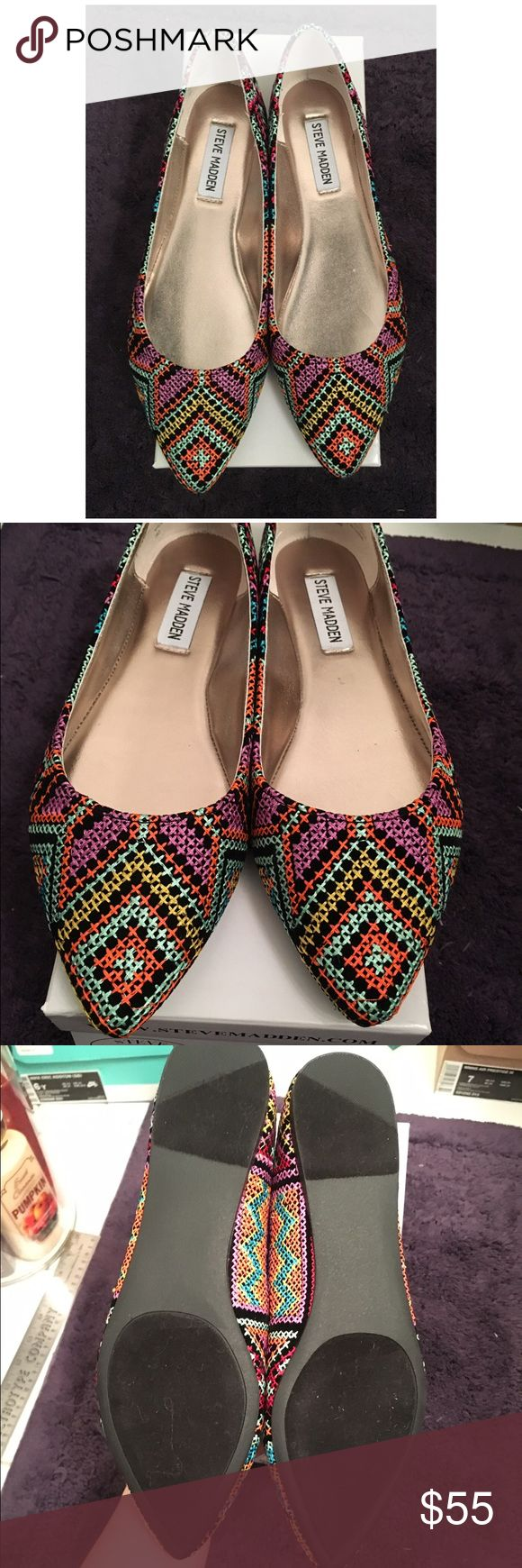 NIB Steve Madden Haanna Aztec Flats NIB. size 7.5 Steve Madden Shoes Flats & Loafers