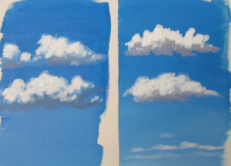 Learn how to paint fluffy clouds in acrylics with jon cox for How to learn to paint with acrylics