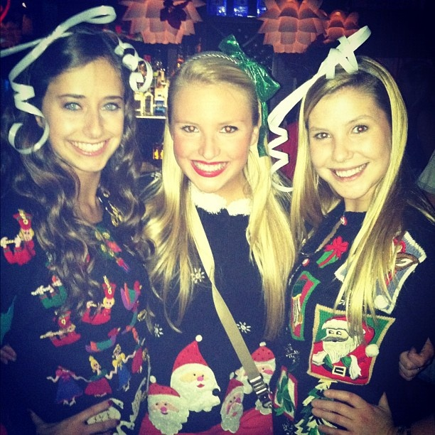College Christmas Party Ideas Part - 36: Zetas At A Tacky Christmas Party