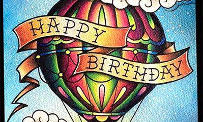 Happy Birthday Tattoo Artist Horizontal navigation bar w/rollover ...