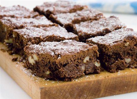 Brownie med valnødder