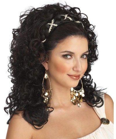 Black Grecian Goddess Wig with Headband | WIGS